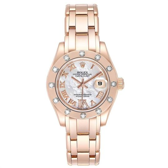Rolex Rolex Pearlmaster Rose Gold MOP Diamond Ladies Watch 80315 Box Image 1