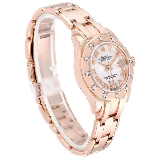 Rolex Rolex Pearlmaster Rose Gold MOP Diamond Ladies Watch 80315 Box Image 2