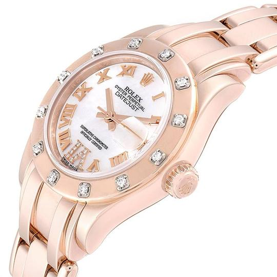 Rolex Rolex Pearlmaster Rose Gold MOP Diamond Ladies Watch 80315 Box Image 4