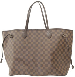 Louis Vuitton Neverfull Xl Gm Large Checkered Tote in Brown
