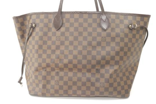 Louis Vuitton Neverfull Xl Gm Large Checkered Tote in Brown Image 1