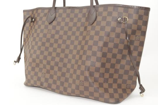 Louis Vuitton Neverfull Xl Gm Large Checkered Tote in Brown Image 2