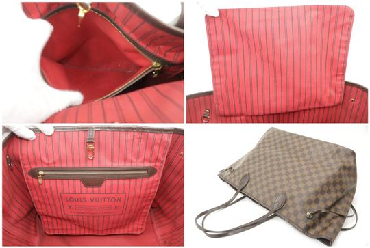 Louis Vuitton Neverfull Xl Gm Large Checkered Tote in Brown Image 7