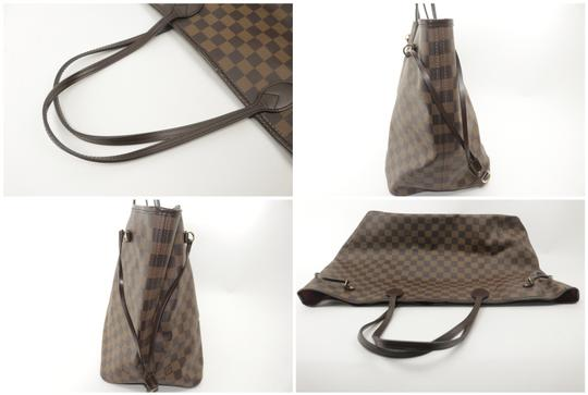 Louis Vuitton Neverfull Xl Gm Large Checkered Tote in Brown Image 9