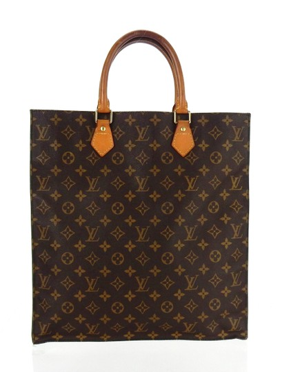 Louis Vuitton Sac Plat Monogram Vintage Tote in Brown Image 1