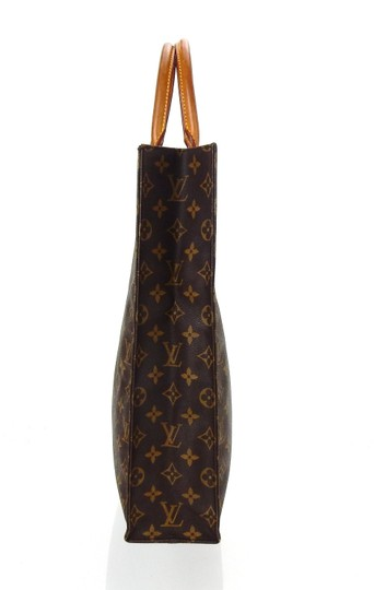 Louis Vuitton Sac Plat Monogram Vintage Tote in Brown Image 2