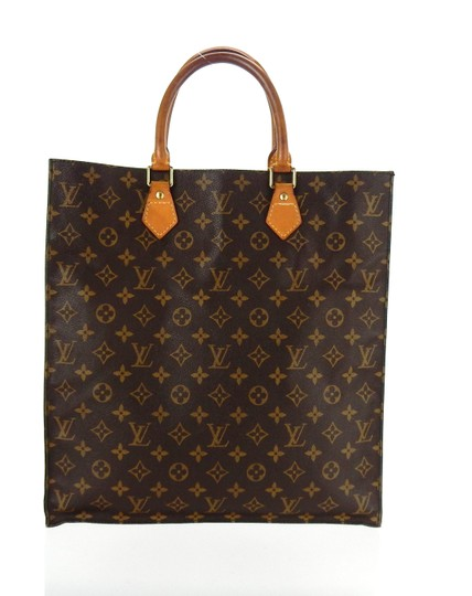 Louis Vuitton Sac Plat Monogram Vintage Tote in Brown Image 3