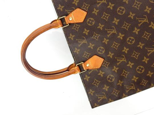 Louis Vuitton Sac Plat Monogram Vintage Tote in Brown Image 5