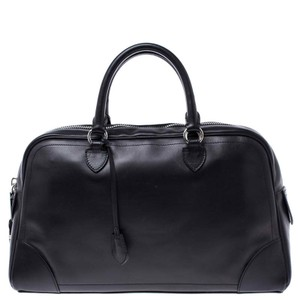 Marc Jacobs Leather Satin Canvas Satchel in Black
