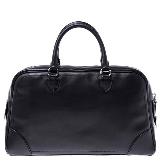 Marc Jacobs Leather Satin Canvas Satchel in Black Image 1