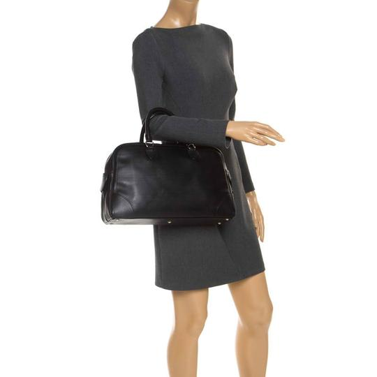 Marc Jacobs Leather Satin Canvas Satchel in Black Image 2