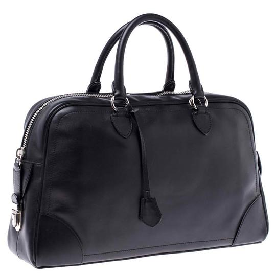 Marc Jacobs Leather Satin Canvas Satchel in Black Image 3