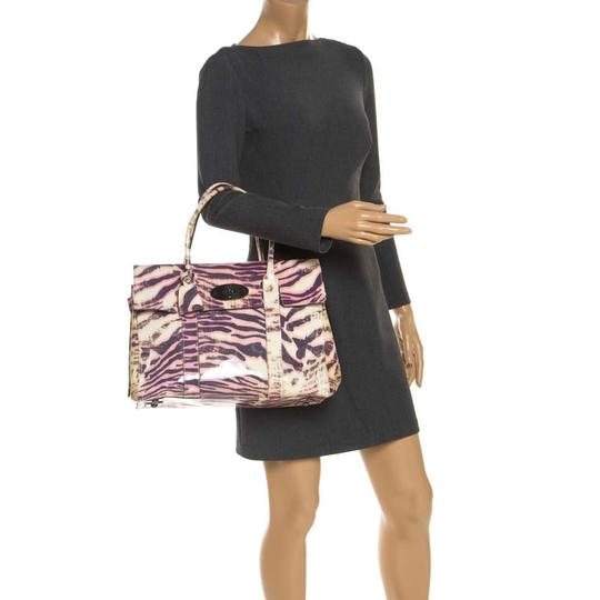Mulberry Leather Suede Print Patent Leather Satchel in Multicolor Image 2