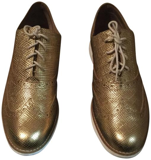 Cole Haan Metallic Oxford Gold Flats Image 0