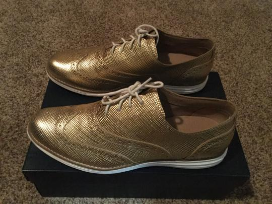 Cole Haan Metallic Oxford Gold Flats Image 1