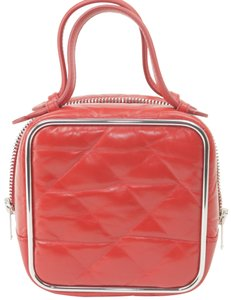 Alexander Wang Lunchbox Hola Square Trunk Mini Satchel in Red