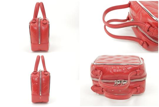Alexander Wang Lunchbox Hola Square Trunk Mini Satchel in Red Image 4