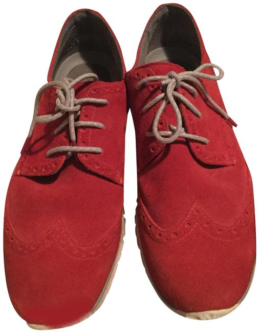Cole Haan Red Suede Oxford/Zerogrand Flats Size US 9.5 Regular (M, B) Cole Haan Red Suede Oxford/Zerogrand Flats Size US 9.5 Regular (M, B) Image 1