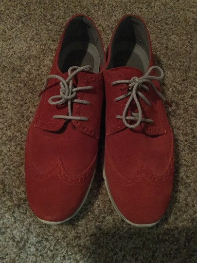 Cole Haan Red Suede Flats Image 1