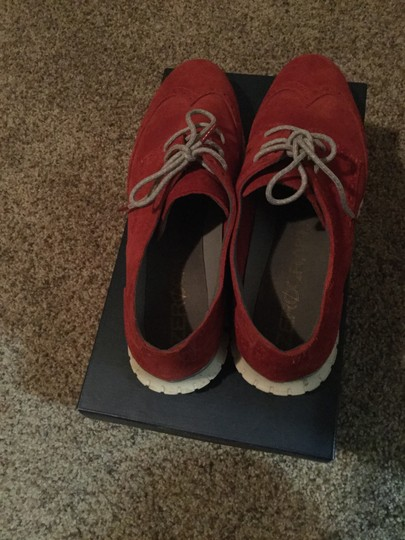 Cole Haan Red Suede Flats Image 3
