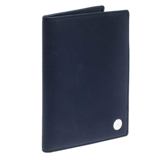 Christian Dior Homme Navy Blue Pebbled Leather Passport Cover Image 2