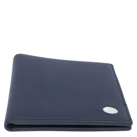 Christian Dior Homme Navy Blue Pebbled Leather Passport Cover Image 4