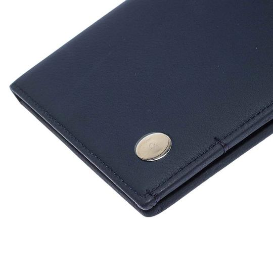 Christian Dior Homme Navy Blue Pebbled Leather Passport Cover Image 5