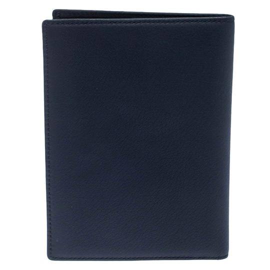 Christian Dior Homme Navy Blue Pebbled Leather Passport Cover Image 6
