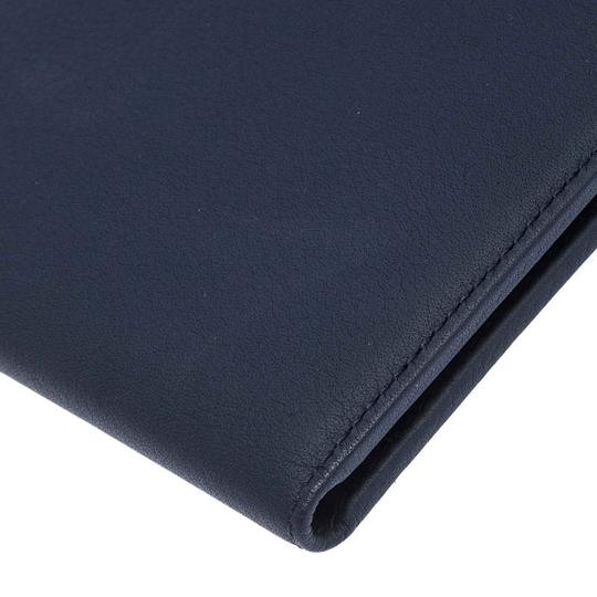 Christian Dior Homme Navy Blue Pebbled Leather Passport Cover Image 7