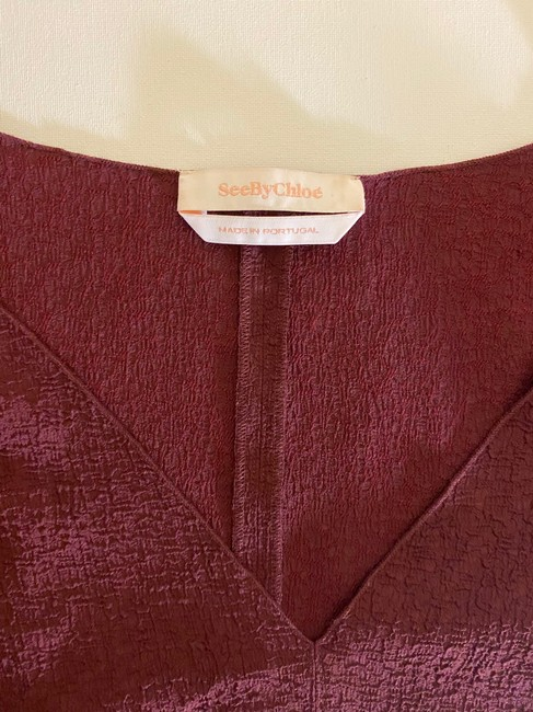 See by Chloé Top Burgundy Image 3