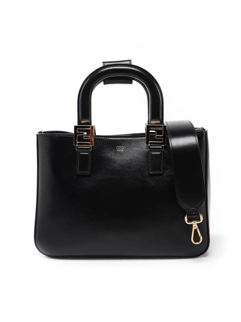 Fendi Spk Gloria Small Black Leather Shoulder Bag Fendi Spk Gloria Small Black Leather Shoulder Bag Image 1