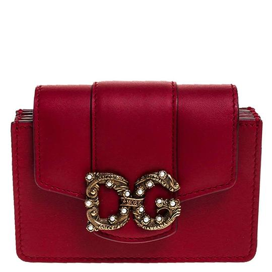 Preload https://img-static.tradesy.com/item/26471663/dolce-and-gabbana-red-dolce-and-gabbana-leather-dg-amore-card-holder-wallet-0-0-540-540.jpg
