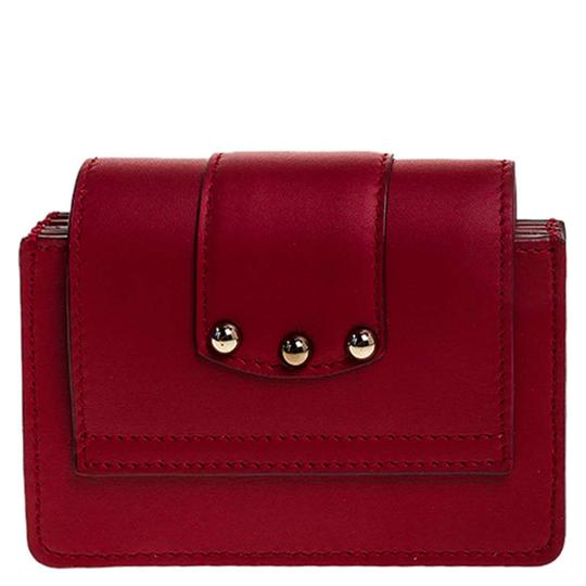 Dolce&Gabbana Dolce and Gabbana Red Leather DG Amore Card Holder Image 1