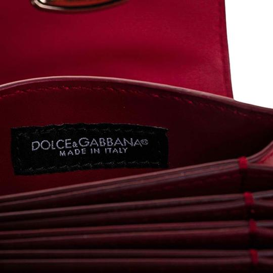 Dolce&Gabbana Dolce and Gabbana Red Leather DG Amore Card Holder Image 2
