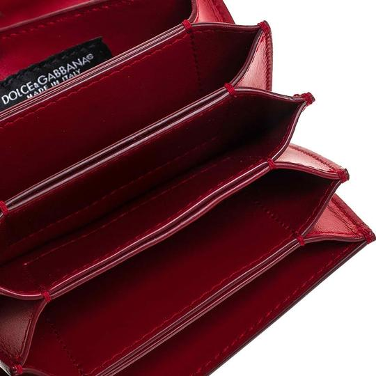 Dolce&Gabbana Dolce and Gabbana Red Leather DG Amore Card Holder Image 4