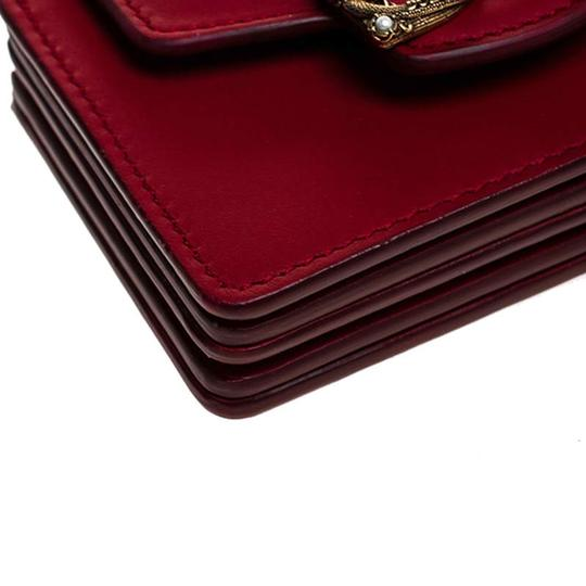 Dolce&Gabbana Dolce and Gabbana Red Leather DG Amore Card Holder Image 5
