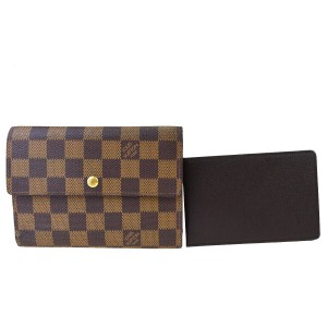 Louis Vuitton Authentic LOUIS VUITTON Porte Tresor Etui Papiers Trifold Wallet Purse