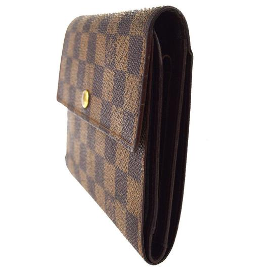 Louis Vuitton Authentic LOUIS VUITTON Porte Tresor Etui Papiers Trifold Wallet Purse Image 1