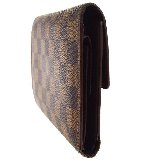 Louis Vuitton Authentic LOUIS VUITTON Porte Tresor Etui Papiers Trifold Wallet Purse Image 4