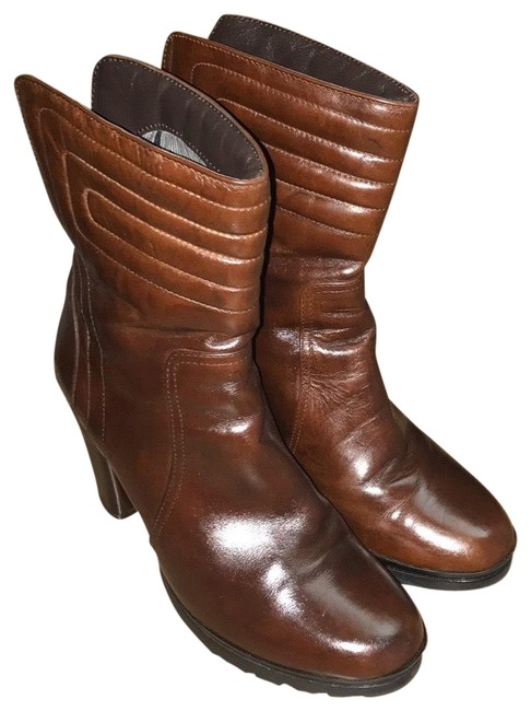 Aquatalia Brown Mid Calf Platform Boots/Booties Size US 7 Regular (M, B) Aquatalia Brown Mid Calf Platform Boots/Booties Size US 7 Regular (M, B) Image 1