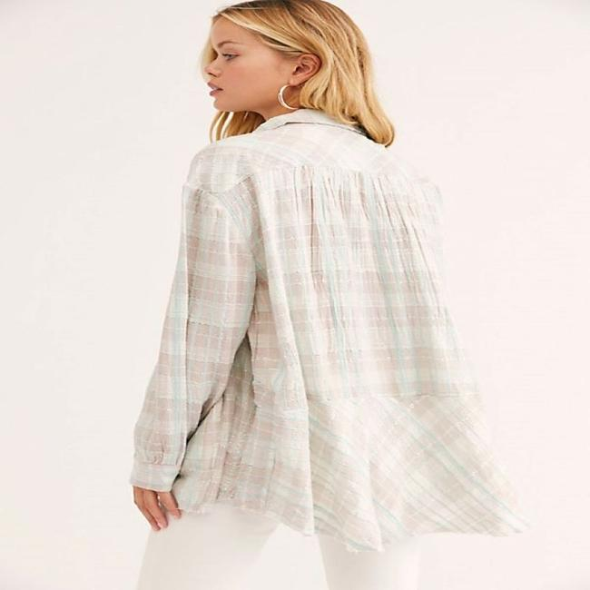 Free People Button Down Shirt Ivory Image 1