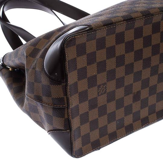 Louis Vuitton Signature Canvas Tote in Brown Image 8