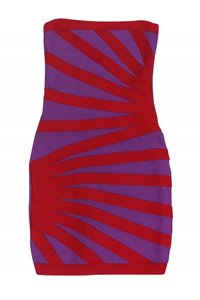Herve Leger short dress red Day Purple on Tradesy