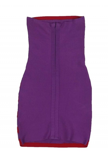Herve Leger short dress red Day Purple on Tradesy Image 1