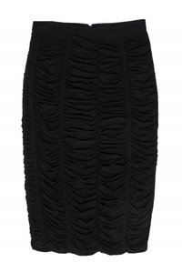 Burberry Ruched Pencil Skirt black