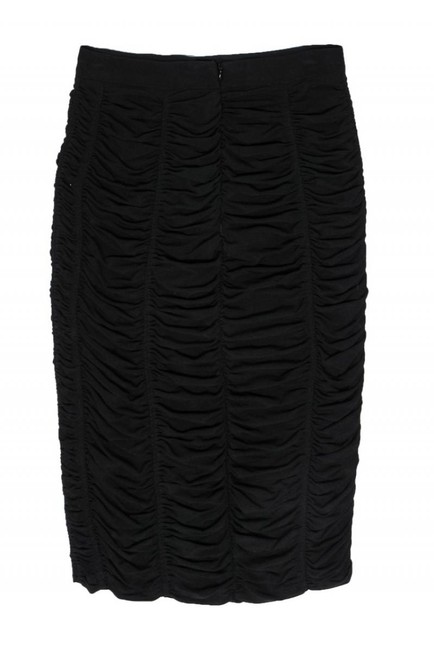 Burberry Ruched Pencil Skirt black Image 1