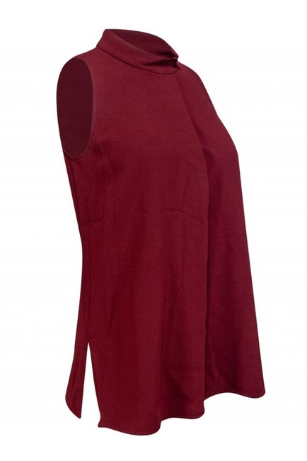 Theory Camis Tank Tops Burgundy Top Image 1