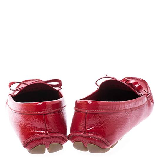 Prada Patent Leather Leather Red Flats Image 2