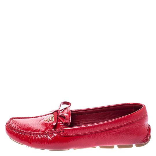 Prada Patent Leather Leather Red Flats Image 3