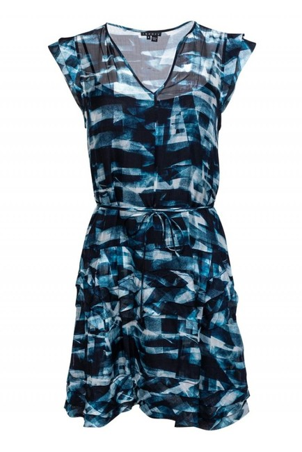 Theory Blue Short Casual Dress Size 8 (M) Theory Blue Short Casual Dress Size 8 (M) Image 1